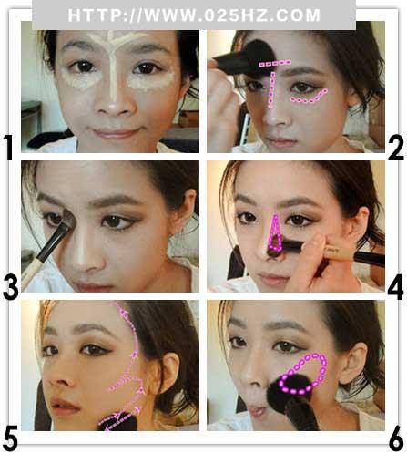 瘦脸妆分解图