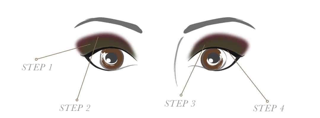 棕色或者黑色眼睛派对眼部化妆